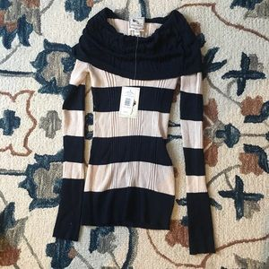 NWT Striped navy and white Sweater